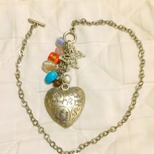 ❤️BEAUTIFUL Sterling Silver Heart Necklace.